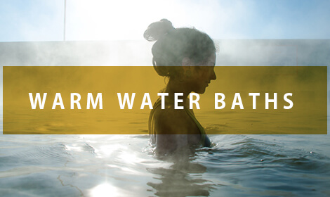 Warm water baths
